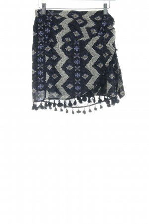 Mango casual Wraparound Skirt ethnic pattern casual look