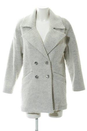 Mango casual Manteau en laine beige clair-gris moucheté molletonné