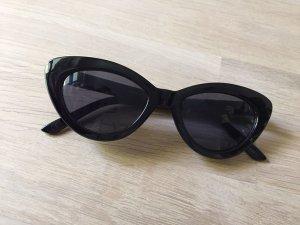 MANGO Cateye Sonnenbrille schwarz