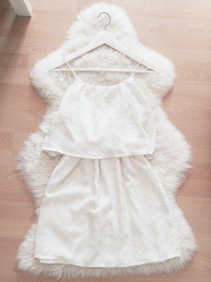 Mango Chiffon Kleid Blogger Volant Dress Gr.XS