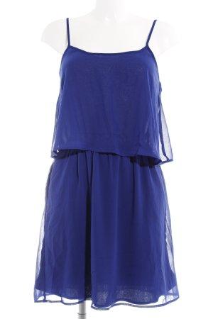 Mango Chiffonkleid blau Beach-Look