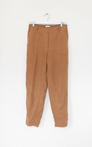 Mango Chino Pants Hose Nude Senf Camel Gr 36 S Vintage Look