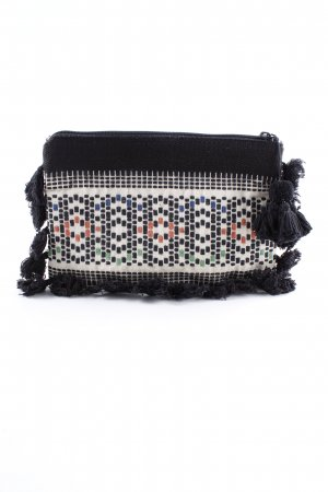 Mango Clutch abstraktes Muster Boho-Look
