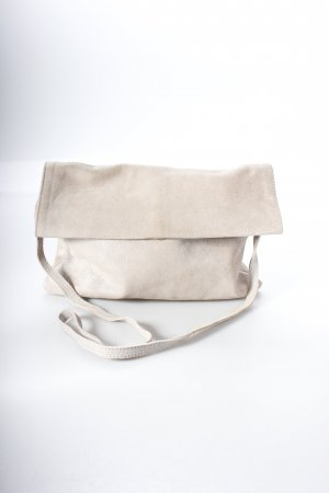 Mango Clutch beige Glitzer-Optik