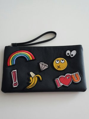 Mango Clutch mit bunten Patches
