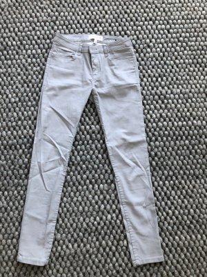 Mango pantalón de cintura baja gris claro