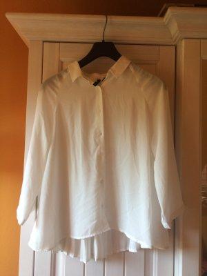 Mango collection Blouse oversized blanc tissu mixte