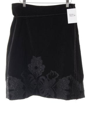 Mango collection Flared Skirt black floral pattern elegant