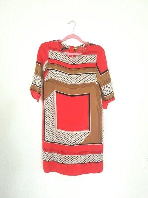 mango Collection Kleid mit Tuchmuster gr M