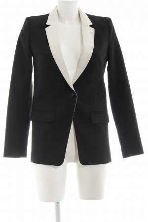 Mango collection Long-Blazer schwarz-weiß Business-Look