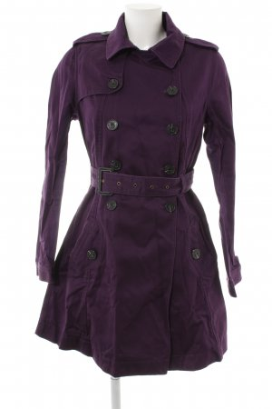Mango collection Trenchcoat dunkelviolett Casual-Look