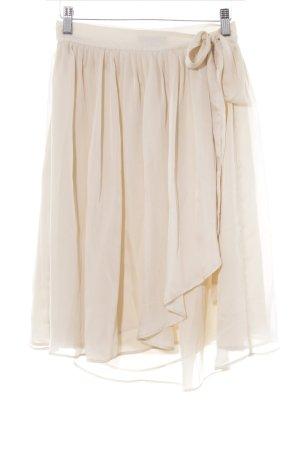 Mango collection Falda cruzada nude-crema estilo romántico