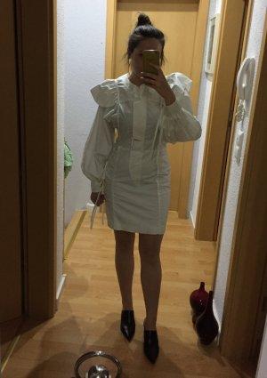 Mango Commited Kleid mit mit Volants und Ballonärmeln