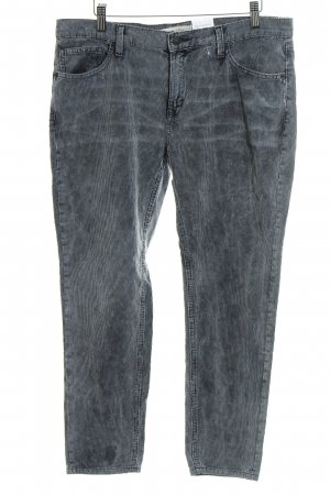 Mango Pantalone di velluto a coste grigio aspetto di seconda mano