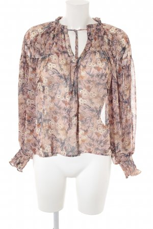 Mango Crash-Bluse Blumenmuster Casual-Look