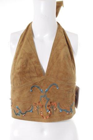 Mango Cropped shirt Azteken patroon Boho uitstraling