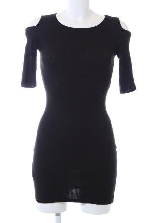 Mango Vestido cut out negro elegante