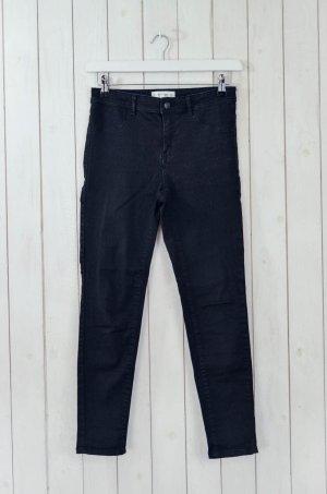 MANGO Damen Jeans Mod. Jane Schwarz Stretch Baumwolle Polyester Gr.38