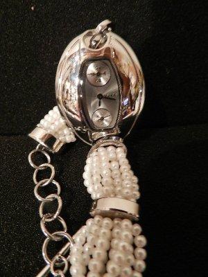 MANGO Damen Luxus Armbanduhr - unbenutzt- Perlenarmband
