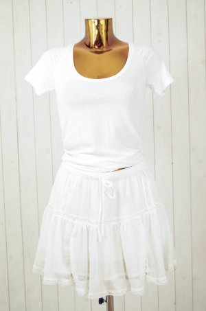 Mango Minifalda blanco-blanco puro Poliéster