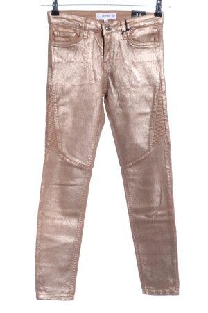 Mango Denim & Tees Pantalón de cinco bolsillos color oro look casual
