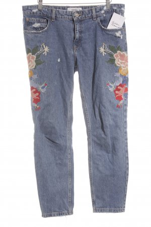 Mango Denim & Tees High Waist Jeans flower pattern casual look