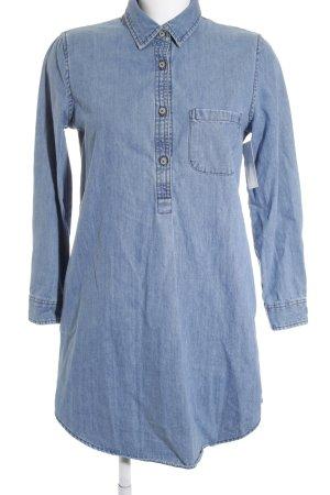 Mango Denim & Tees Jeansbluse kornblumenblau Jeans-Optik