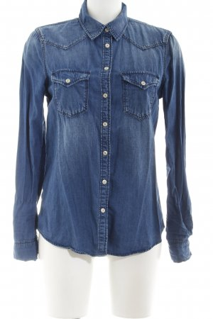 Mango Denim & Tees Denim Shirt steel blue casual look