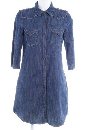Mango Denim & Tees Jeanskleid stahlblau-dunkelblau Country-Look