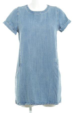 Mango Denim & Tees Jeanskleid stahlblau Jeans-Optik