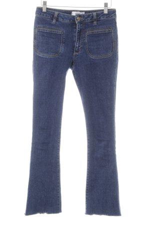 Mango Denim & Tees Jeansschlaghose dunkelblau Casual-Look