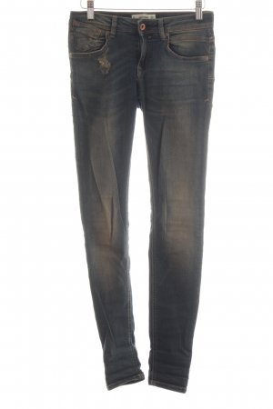 Mango Denim & Tees Jeans a sigaretta blu neon-bronzo stile casual