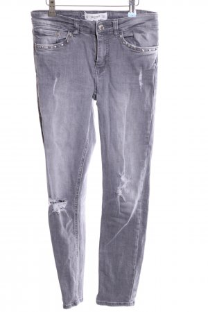 Mango Denim & Tees Skinny Jeans hellgrau Casual-Look