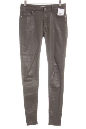 Mango Denim & Tees Skinny Jeans grüngrau-dunkelgrün Biker-Look