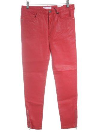 Mango Denim & Tees Skinny Jeans rot Glanz-Optik