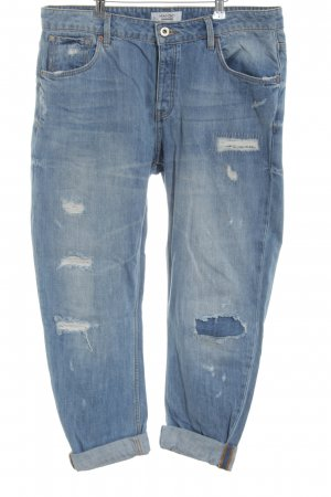 Mango Denim & Tees Straight-Leg Jeans blau Street-Fashion-Look
