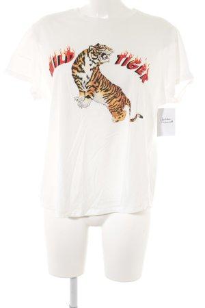 Mango Denim & Tees T-Shirt weiß Motivdruck Casual-Look