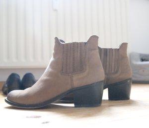 Mango Dicker Boots Stiefeletten Hellbraun Blogger 37