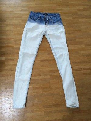 Mango Dip Dye Batik Röhren Jeans Blogger XS 32 34