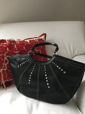 *MANGO* Elegante Handtasche mit Ziernähten und Nieten