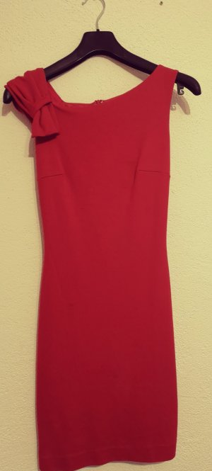 Mango Robe fourreau rouge viscose