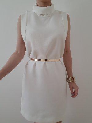 Mango Etuikleid XS S 32 34 36 weiß Bleistiftkleid Bodycon Mini Kleid Tunika