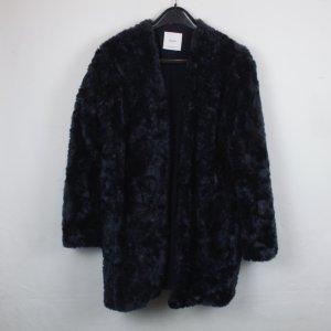 Mango Fake Fur Mantel Gr. S blau (18/9/010)