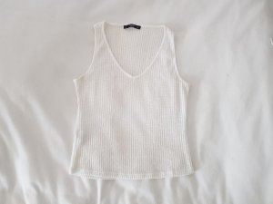 Mango Knitted Top white-natural white