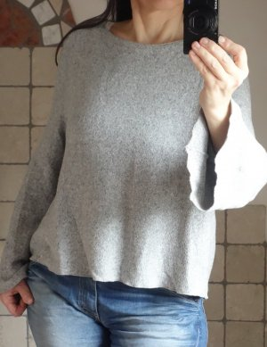 Mango Pull polaire gris clair polyester