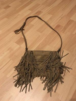 Mango Fringed Bag camel