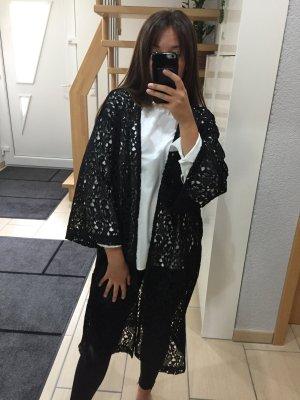 Mango Gehäkelter Kimono mit Spitze