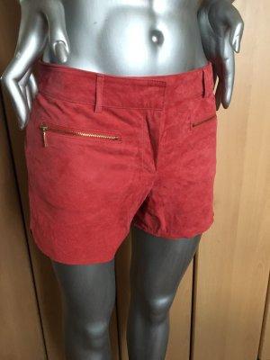Mango Genuine Leather Collection Ledershorts apricotrot Gr. 34