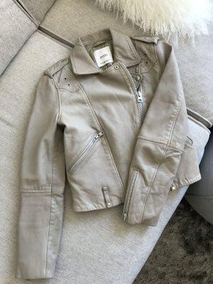 Mango Genuine Leather Jacket XS