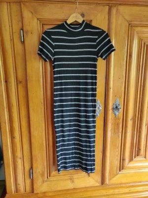 **MANGO** gestreiftes Kleid schwarz/weiß